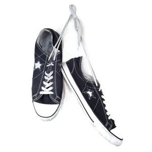 CONVERSE One Star black low top canvas sneakers 12